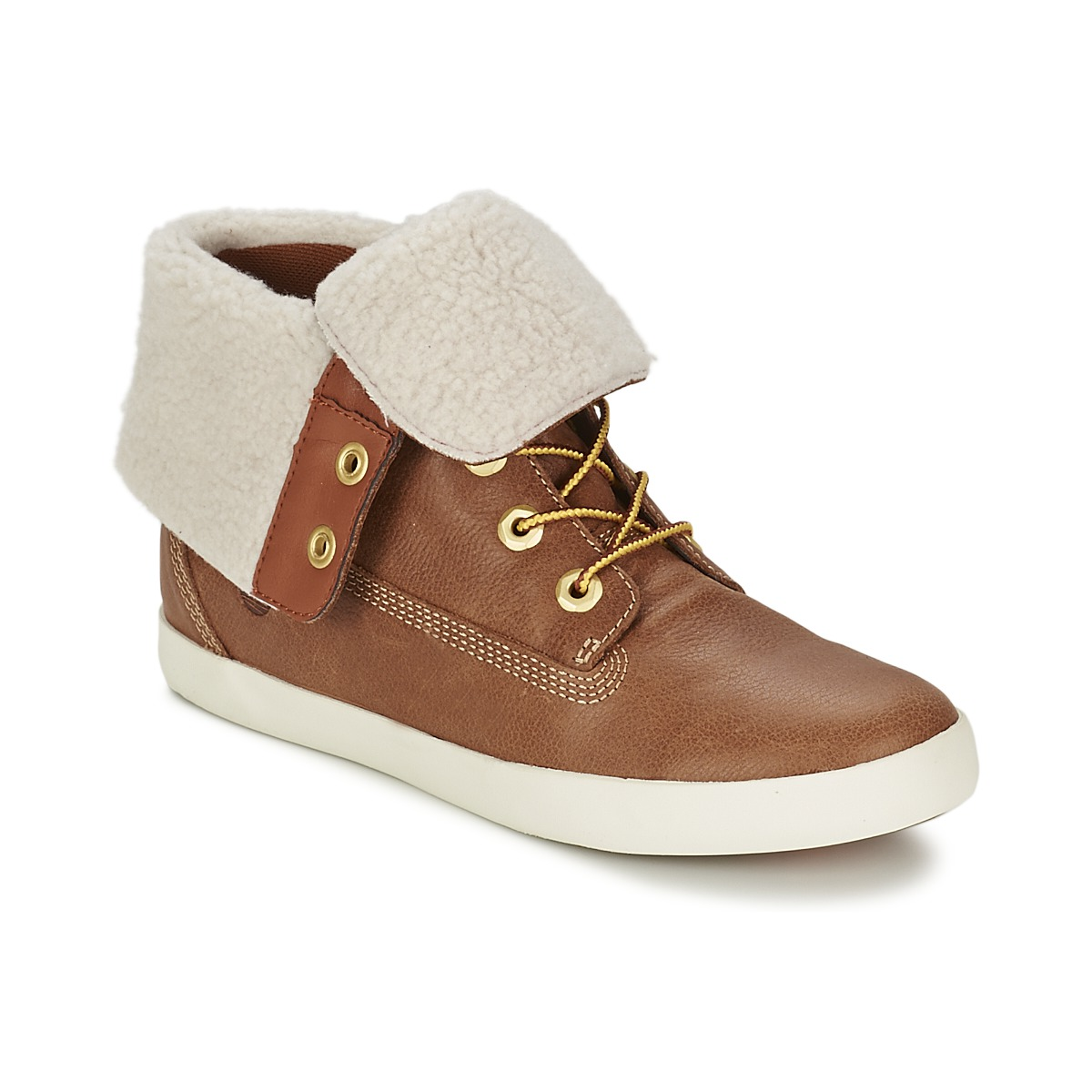 80%OFF Timberland GLASTENBURY FLEECE FOLD DOWN TAN Shoes Mid boots Women