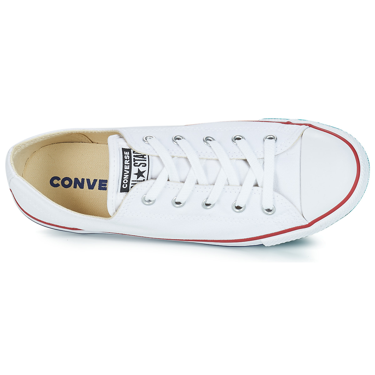 9ad058c93ddff1 free shipping Converse ALL STAR DAINTY CANVAS OX White Shoes Low top  trainers Women