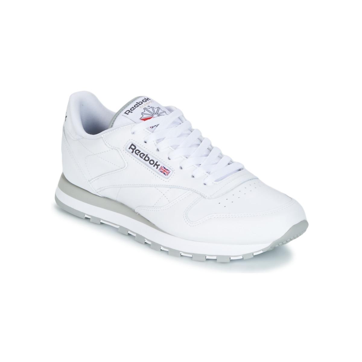 saludo Oxidar pueblo  50%OFF Reebok Classic CLASSIC LEATHER WHITE LIGHT GREY Shoes Low ...