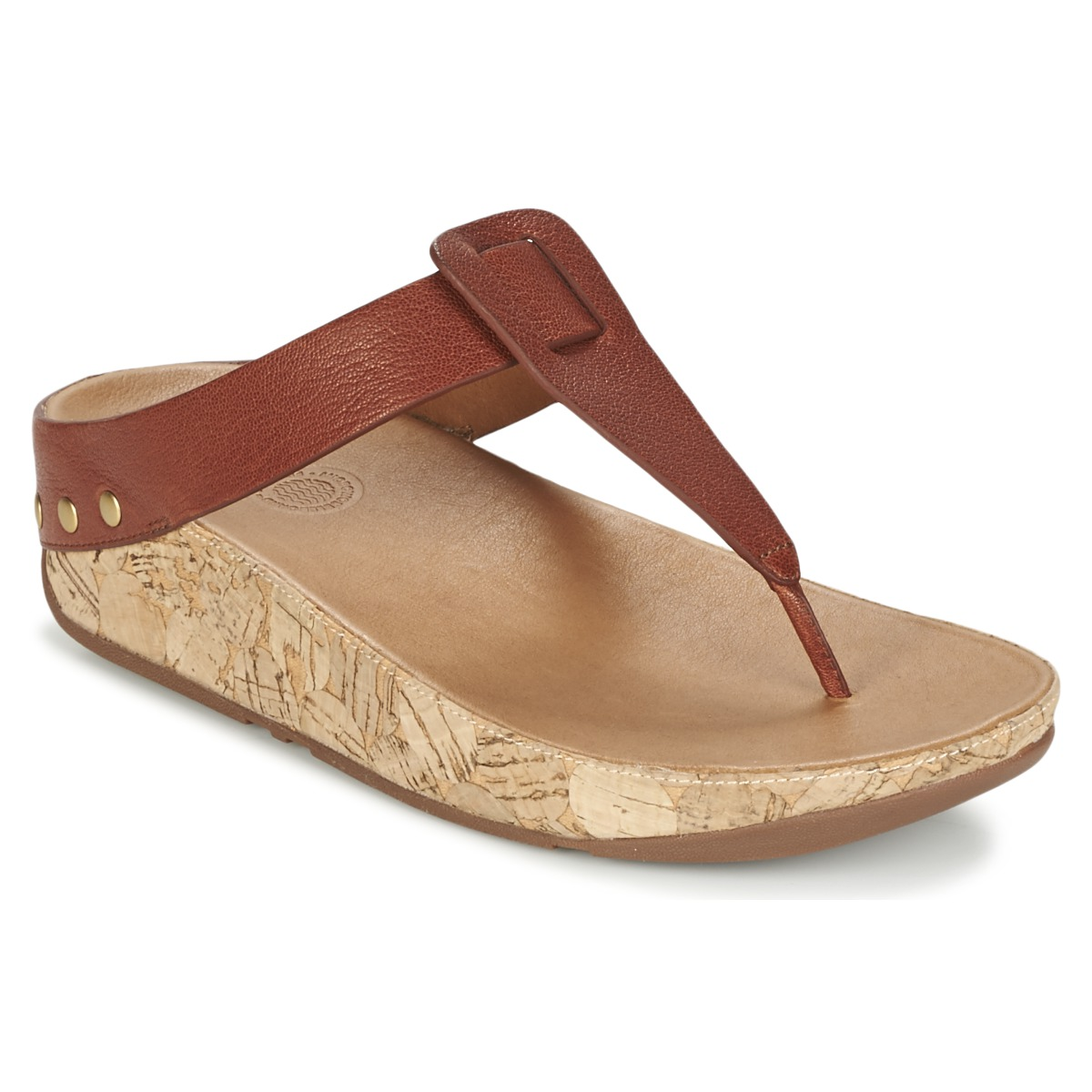Sandals Fitflop Ibiza Cork Dark Tan Free Delivery With