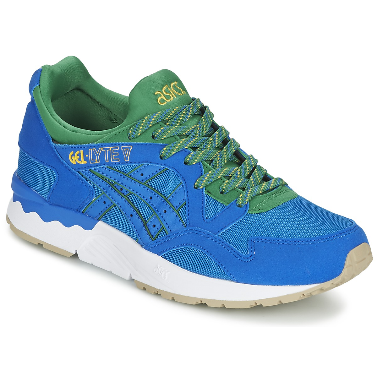 0897e74c11d Asics GEL-LYTE V BRAZIL PACK Blue Green Shoes Low top trainers best ...