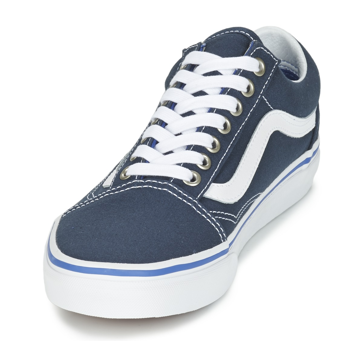 14c091c0e795 outlet Vans OLD SKOOL MIDNIGHT NAVY TRUE White Shoes Low top trainers
