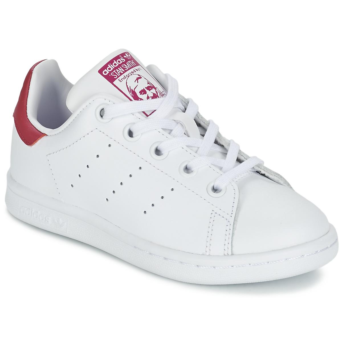 60%OFF adidas Originals STAN SMITH EL C White Pink Shoes Low top trainers  Child 507c6c2ba74