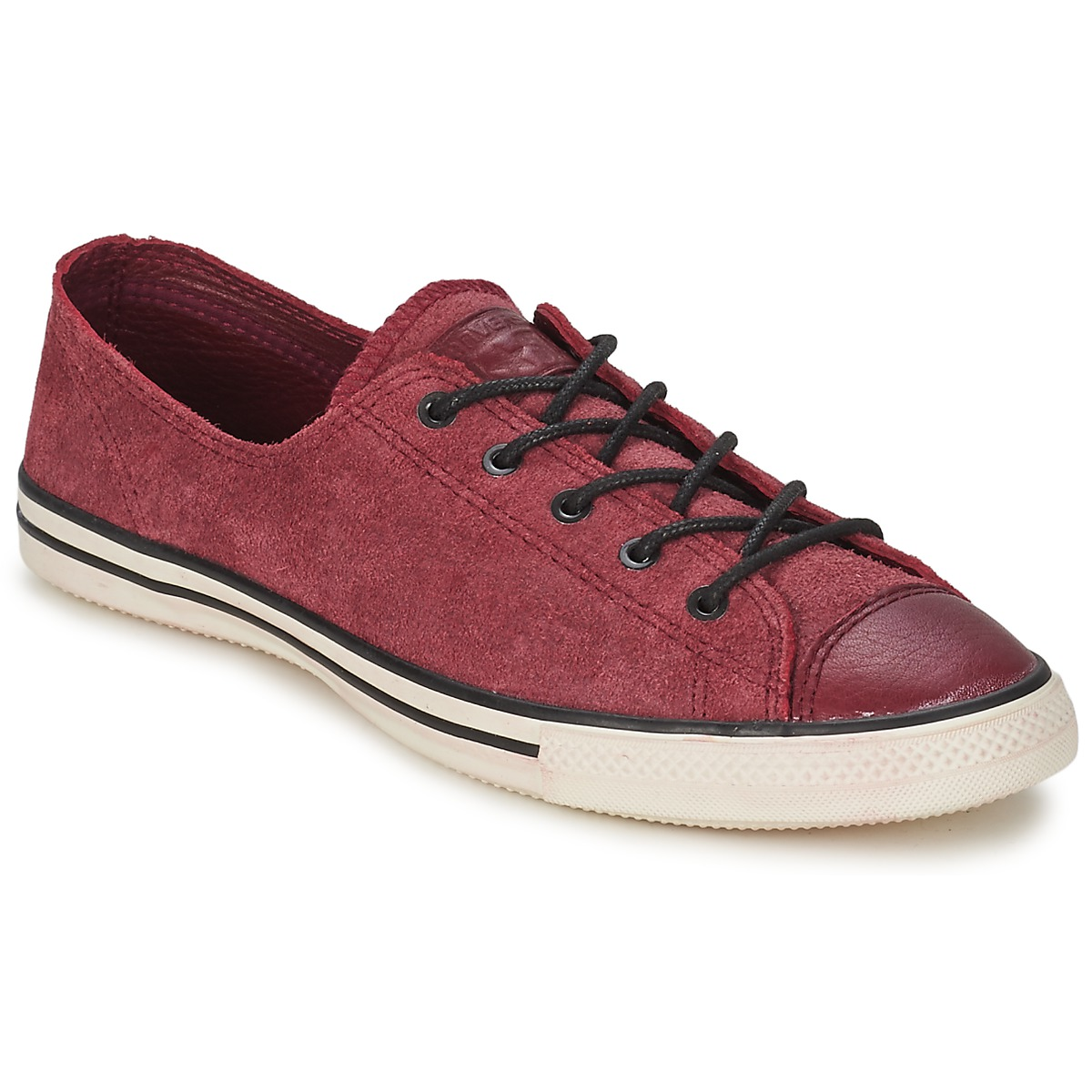 0d297203a277 Converse ALL STAR FANCY LEATHER OX BORDEAUX Shoes Low top trainers Women  best