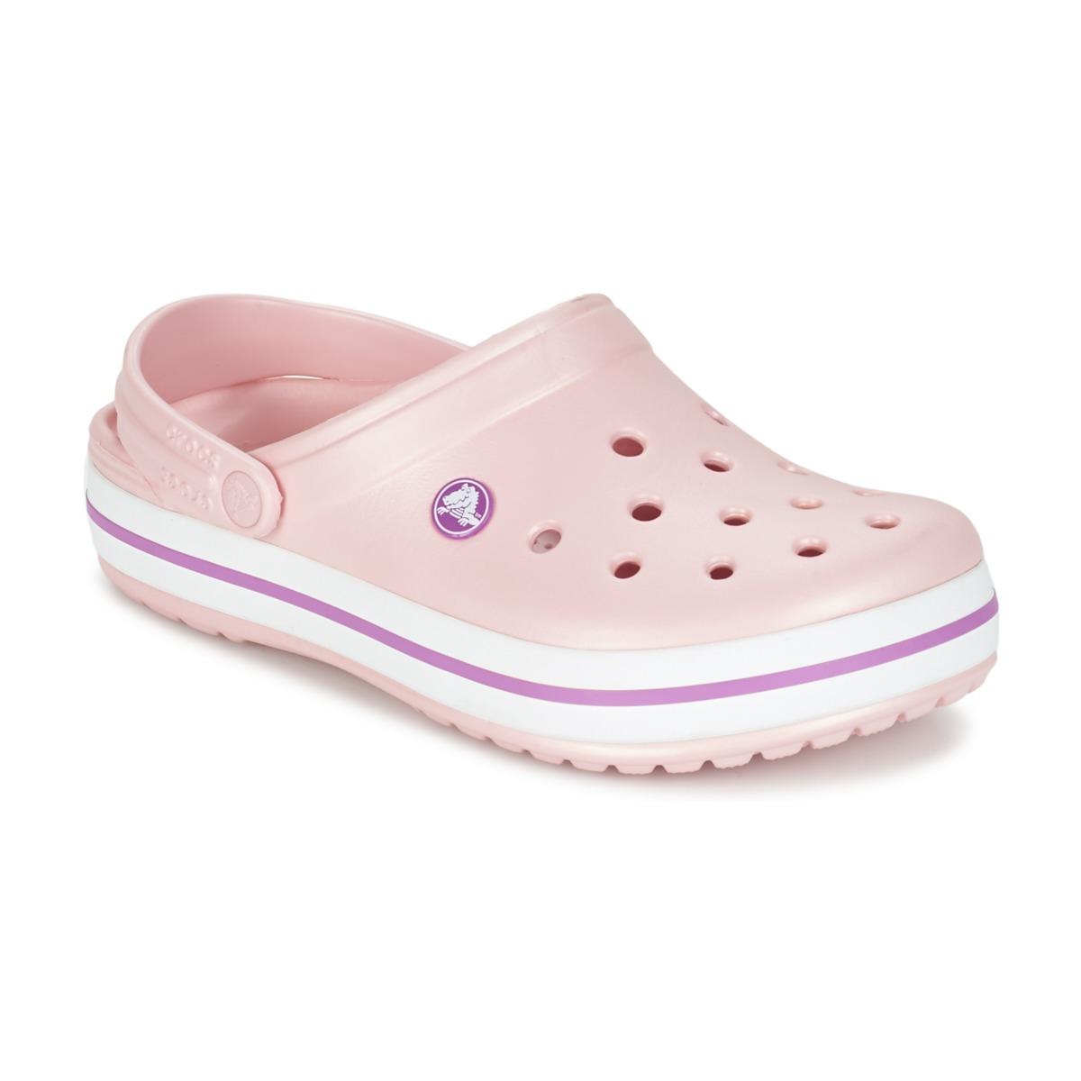 b53eb53c0e78 Crocs CROCBAND PINK Wild Orchid Shoes Mules Women new ...