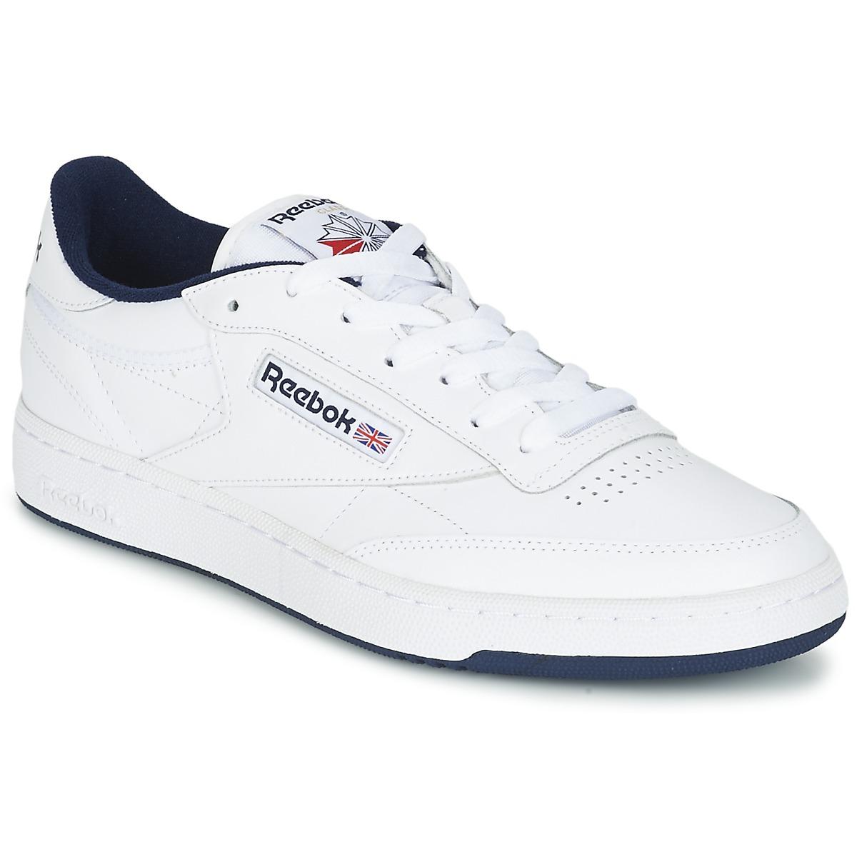 Reebok Classic CLUB C 85 White Blue Shoes Low top trainers Men 70 ... 33748cf82