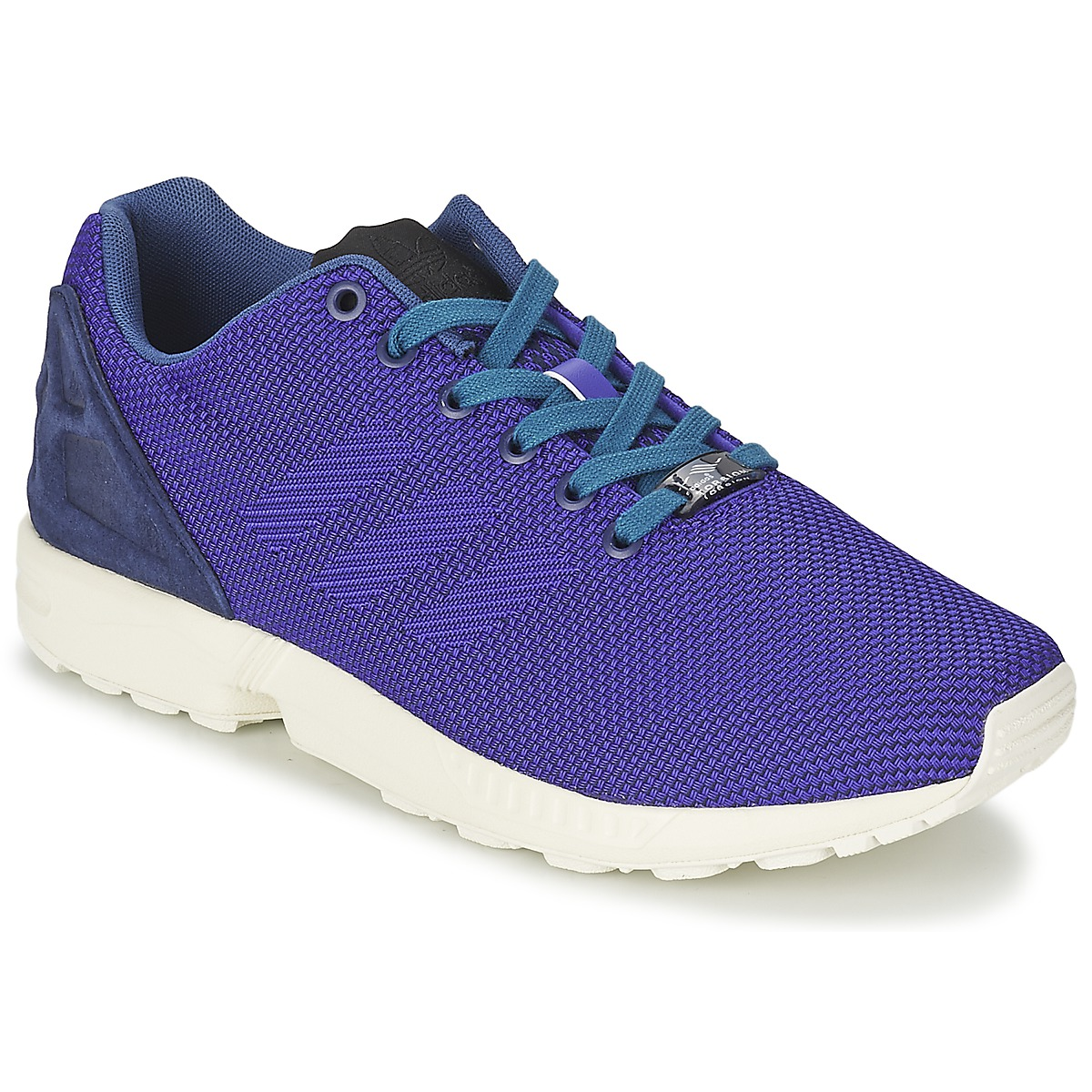 bd2e0d5871f good adidas Originals ZX FLUX WEAVE Blue Shoes Low top trainers Men ...