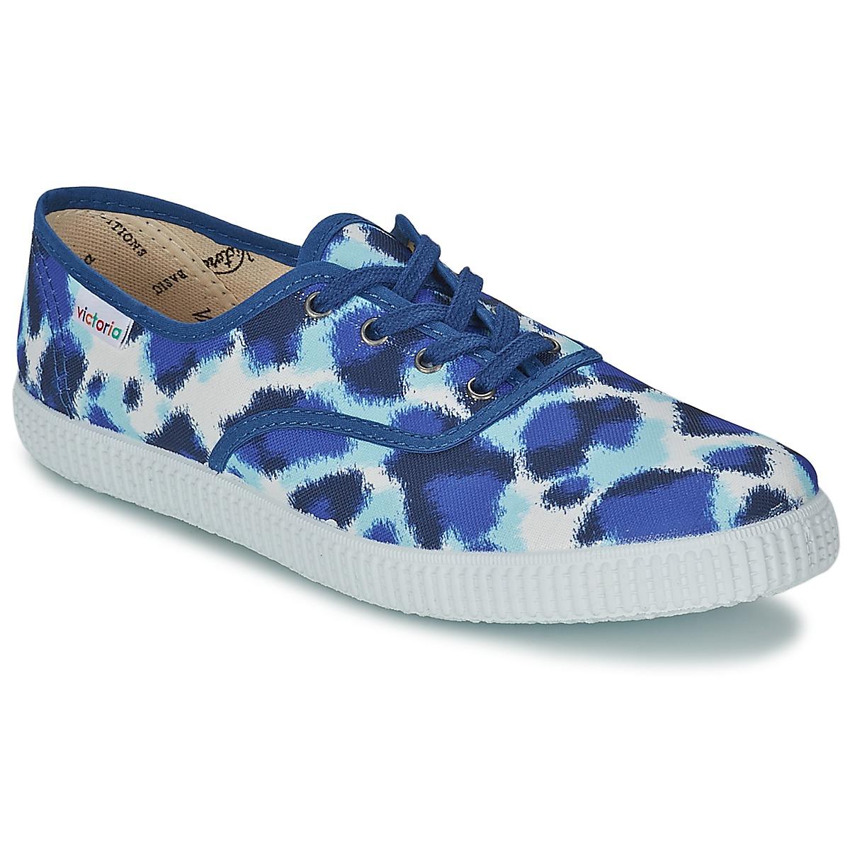 e14f41f22 Victoria INGLESA ESTAMP HUELLA TIGRE Blue Shoes Low top trainers Women  80%OFF