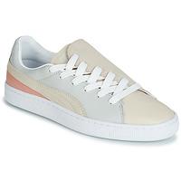 Shoes Women Low top trainers Puma WN BASKET CRUSH PARIS.GRAY Beige