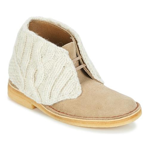 Shoes Women Mid boots Clarks DESERT BOOT Sand / Combi