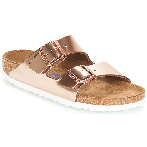 Shoes Women Mules Birkenstock ARIZONA SFB Gold