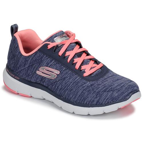 Shoes Women Fitness / Training Skechers FLEX APPEAL 3.0 Marine / Pink