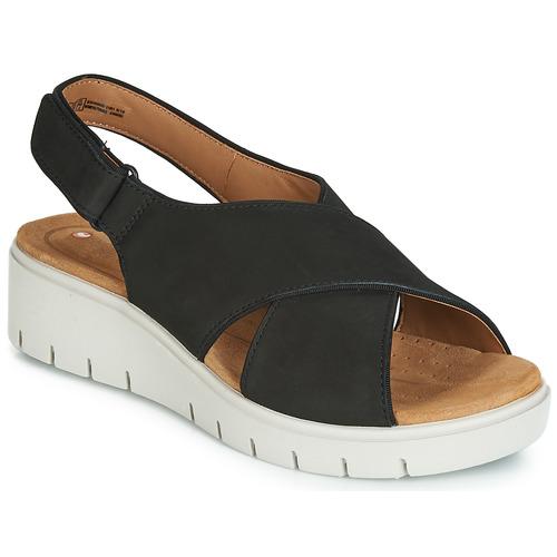 Shoes Women Sandals Clarks UN KARELY SUN Black