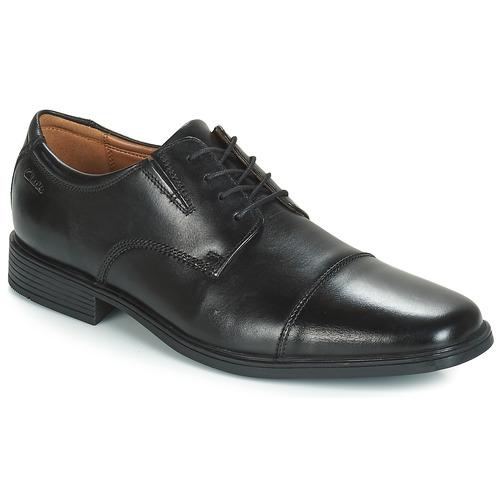 Shoes Men Derby Shoes Clarks TILDEN CAP Black
