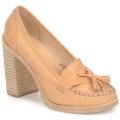 Rubber Sole Swedish hasbeens  TASSEL LOAFER  women's Court Shoes in BEIGE