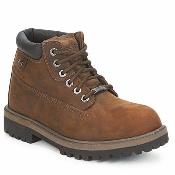 Shoes Men Mid boots Skechers SERGEANT Brown