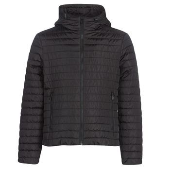 Clothing Men Duffel coats Geox TIRPIRUNE Black