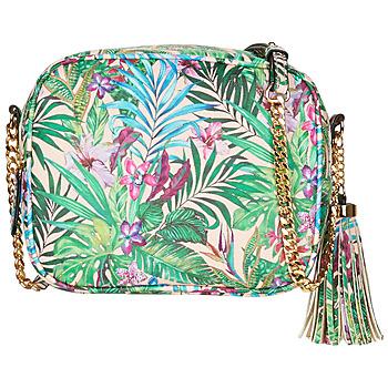 Bags Women Messenger bags André AMBRE Beige / Green