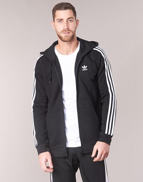 Clothing Men Sweaters adidas Originals 3 STRIPES FZ Black