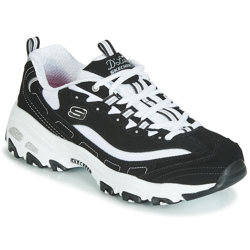 Shoes Women Low top trainers Skechers D'LITES Black / White