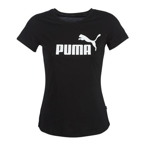 Clothing Women Short-sleeved t-shirts Puma PERMA ESS TEE Black