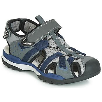 Shoes Boy Outdoor sandals Geox J BOREALIS BOY Grey / Marine