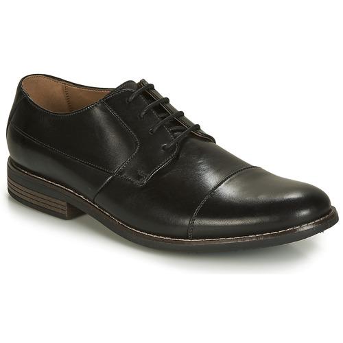 Shoes Men Derby Shoes Clarks Becken Cap  black