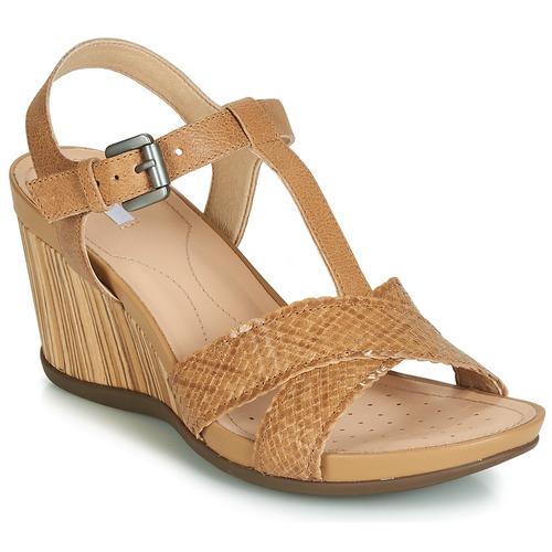 Shoes Women Sandals Geox DOROTHA E Camel
