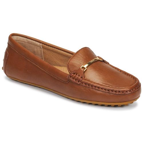 Shoes Women Loafers Lauren Ralph Lauren BRIONY Cognac