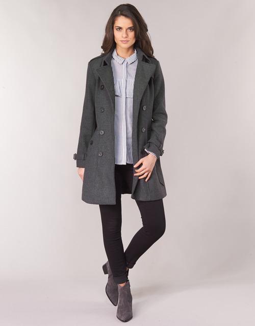 Clothing Women coats Casual Attitude HAIELLI Grey