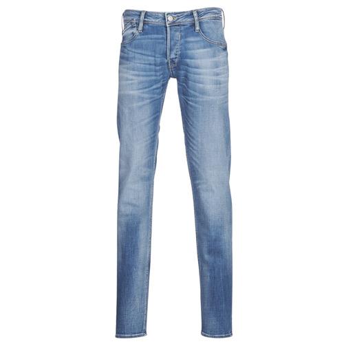 Clothing Men slim jeans Le Temps des Cerises 711 Blue / Medium
