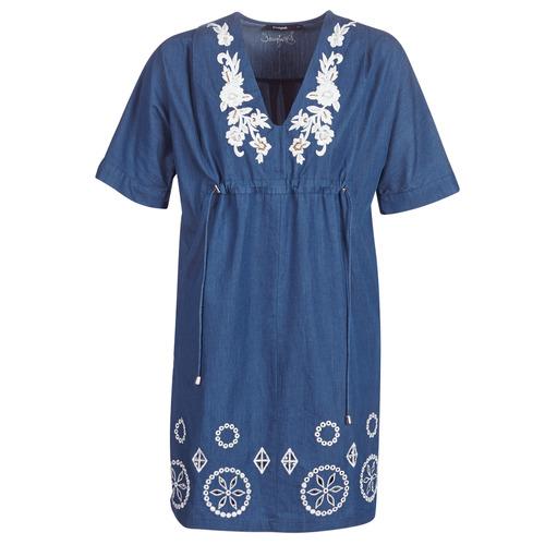 Clothing Women Short Dresses Desigual ELECTRA Marine