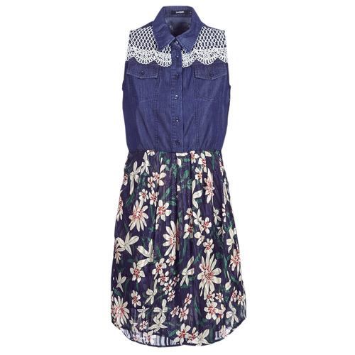 Clothing Women Short Dresses Desigual ALOHA Marine