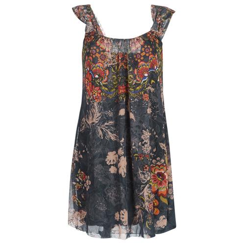 Clothing Women Short Dresses Desigual NIELS Grey