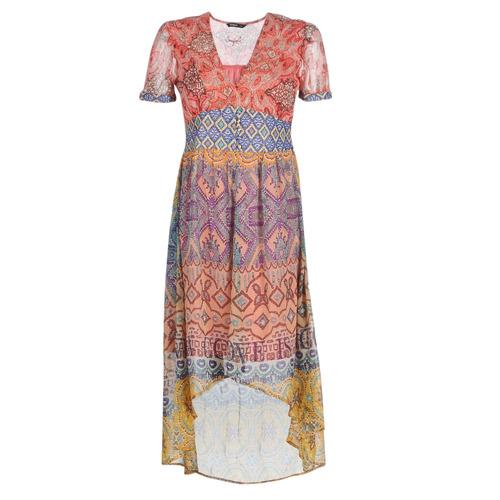 Clothing Women Long Dresses Desigual NANA Multicoloured