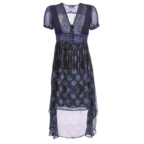 Clothing Women Long Dresses Desigual MINALI Marine
