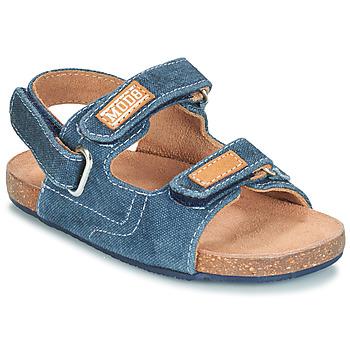 Shoes Boy Sandals Mod'8 KORTIS Blue / Jean