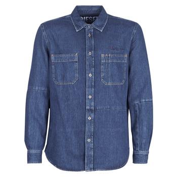 Clothing Men Long-sleeved shirts Diesel D FRED Blue