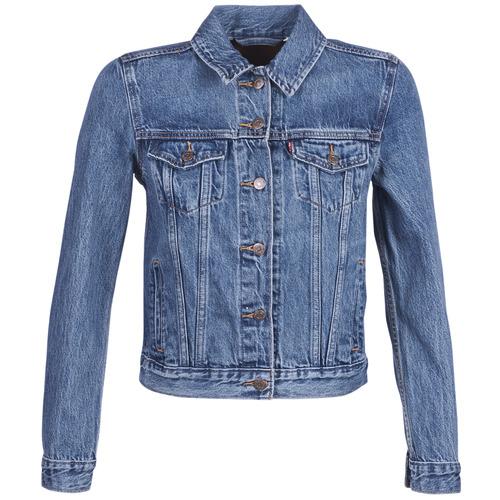 Clothing Women Denim jackets Levi's ORIGINAL TRUCKER Blue / Medium