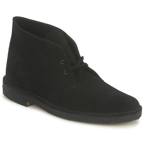 Shoes Men Mid boots Clarks DESERT BOOT Black