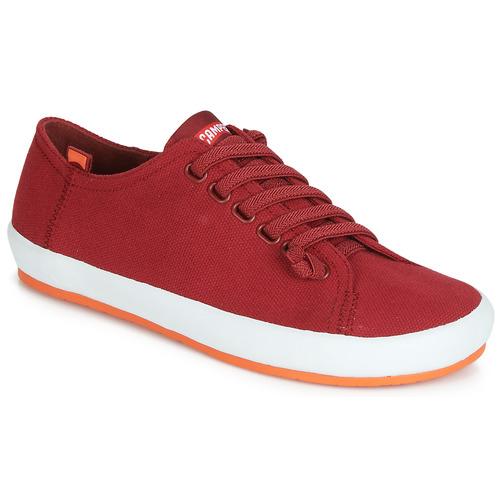 Shoes Women Derby Shoes Camper PEU RAMBLA VULCANIZADO Red