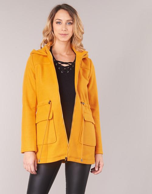 Clothing Women coats Moony Mood JANTO Yellow