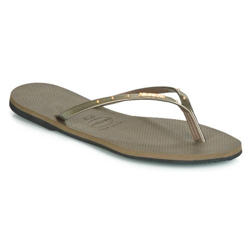 Shoes Women Flip flops Havaianas YOU MAX Kaki