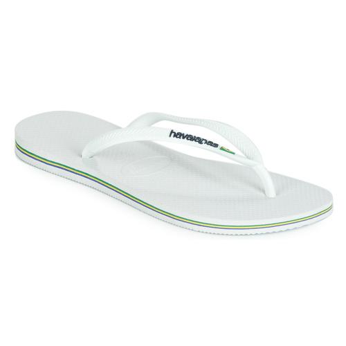 Shoes Women Flip flops Havaianas SLIM BRASIL LOGO White