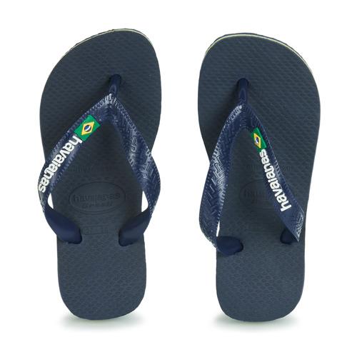 Shoes Children Flip flops Havaianas HAVAIANAS BRASIL LOGO Navy