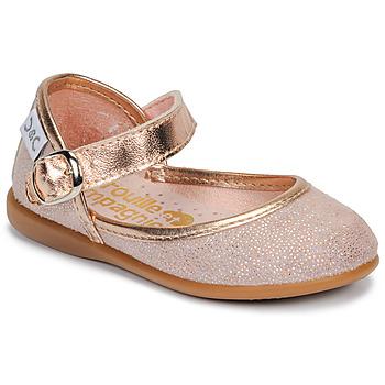 Shoes Girl Flat shoes Citrouille et Compagnie JARITO Pink / Bronze
