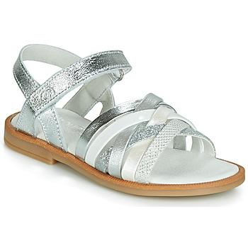 Shoes Girl Sandals Citrouille et Compagnie JIRAFOU Silver