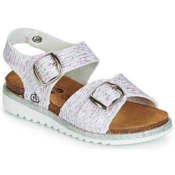 Shoes Girl Sandals Citrouille et Compagnie JANETTA White / Purple