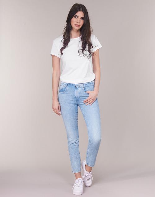 Clothing Women straight jeans G-Star Raw RADAR MID BOYFRIEND TAPERED Blue / Light / Aged