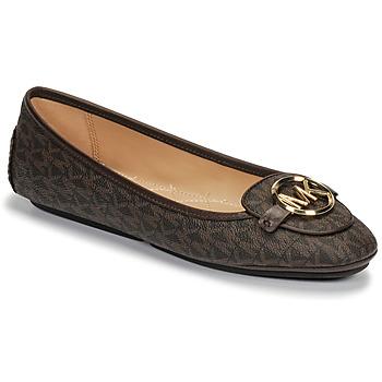 Shoes Women Flat shoes MICHAEL Michael Kors LILLIE MOC Brown